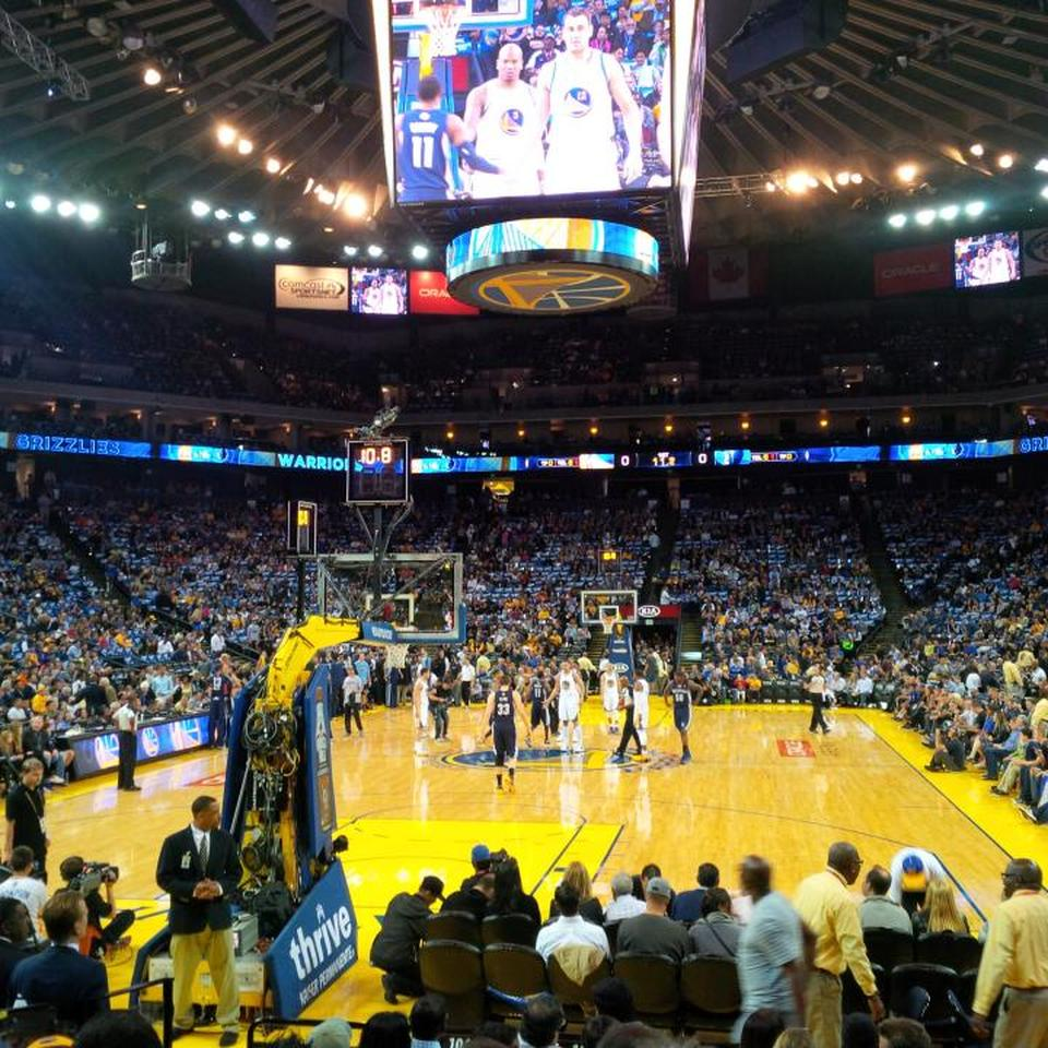 Gs Warriors New Stadium: Oracle Arena Section 121