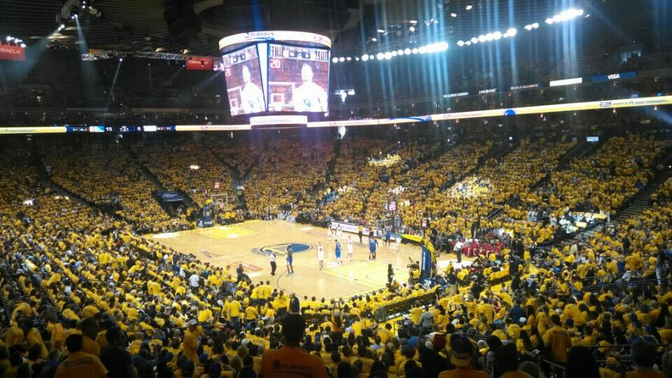 Seat View for Oracle Arena Section 110, Row SRO