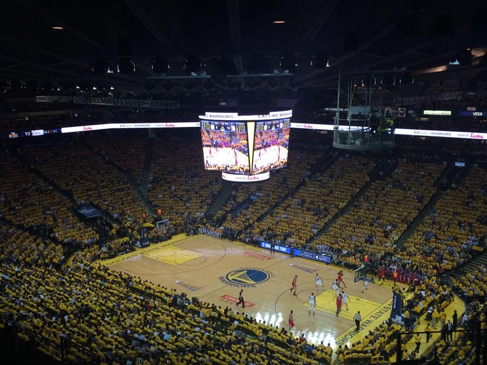 Seat View for Oracle Arena Section 213, Row 18