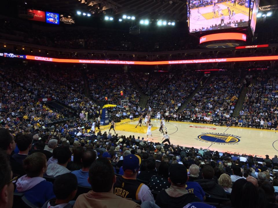 Seat View for Oracle Arena Section 128, Row 22