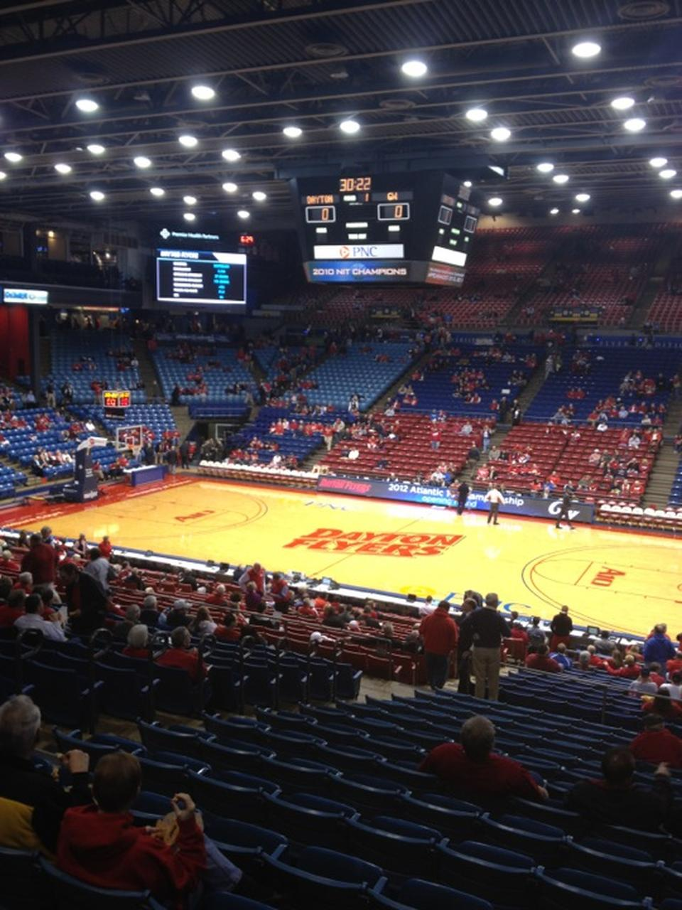 Seat View for University of Dayton Arena Section 217, Row P