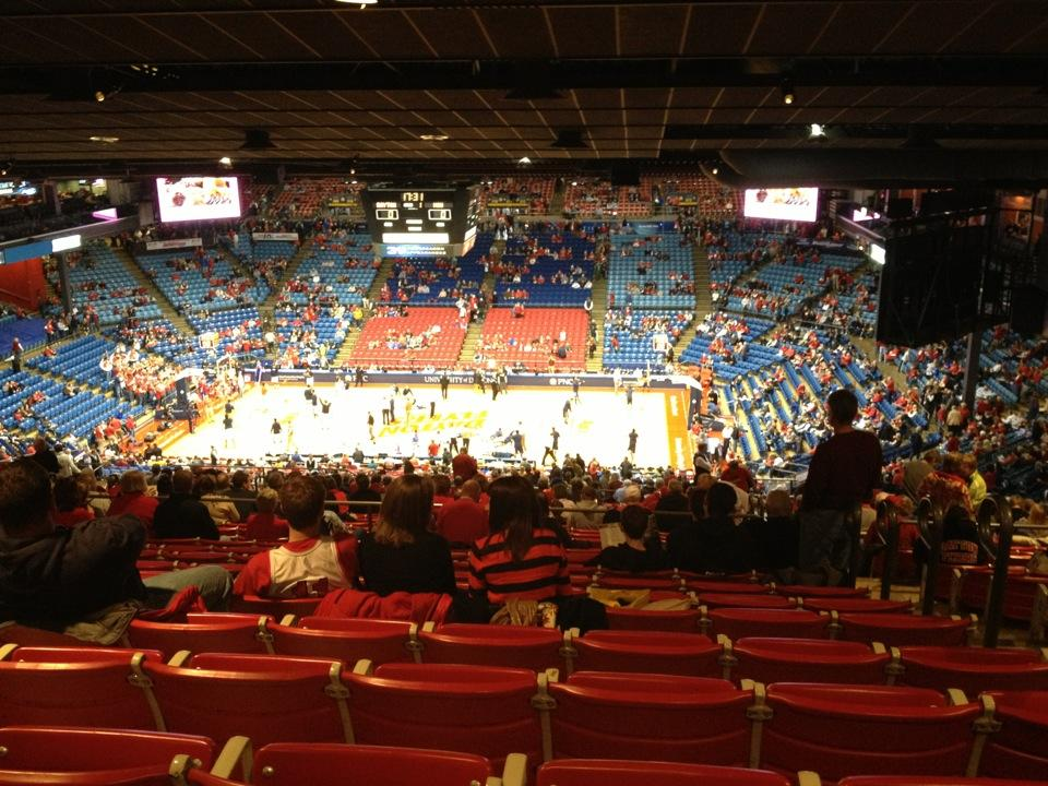 Seat View for University of Dayton Arena Section 402