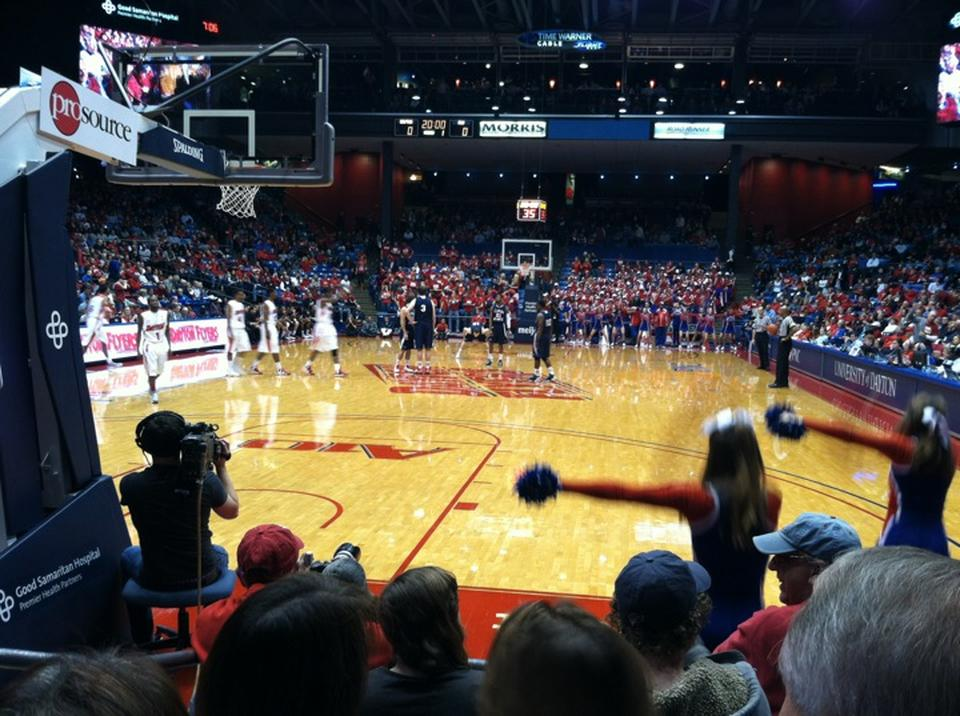 Seat View for University of Dayton Arena Section 116, Row D