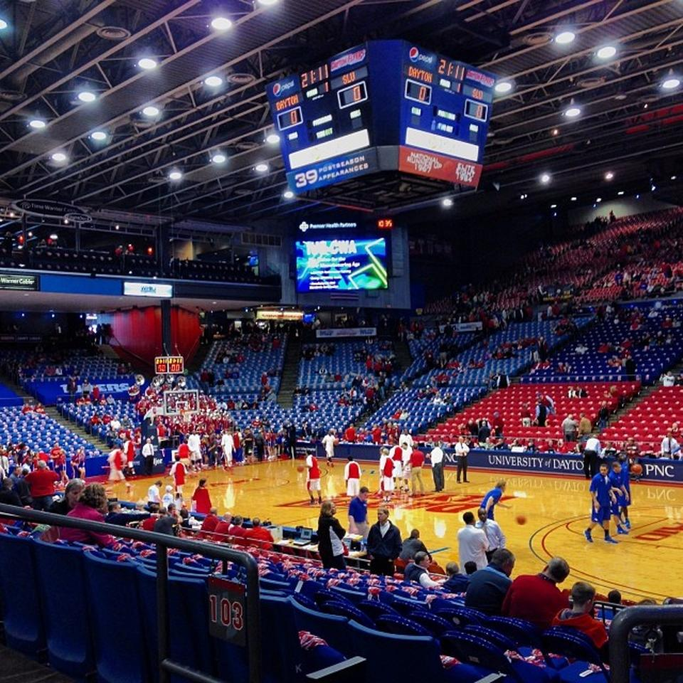 Seat View for University of Dayton Arena Section 204, Row A