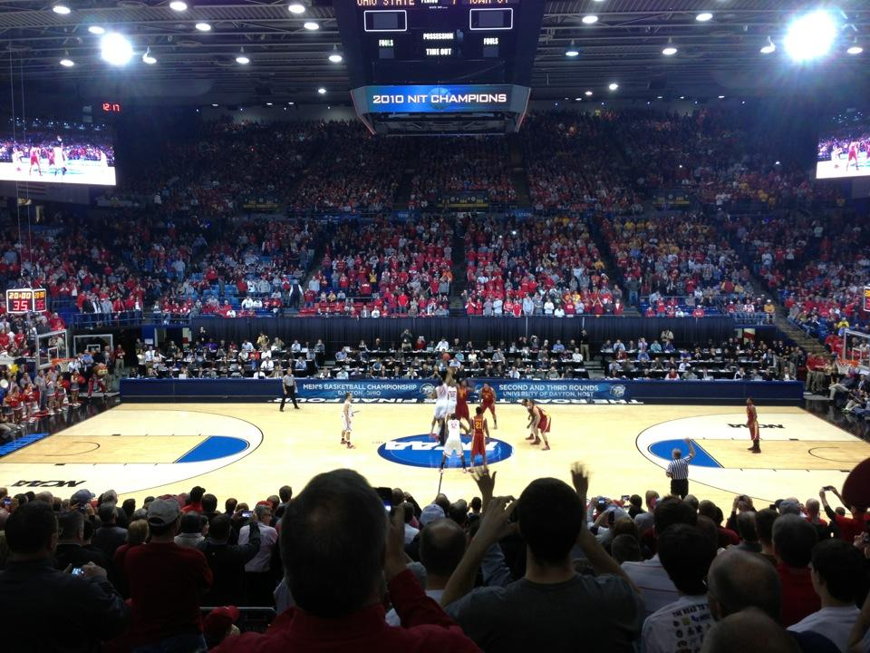 Seat View for University of Dayton Arena Section 206