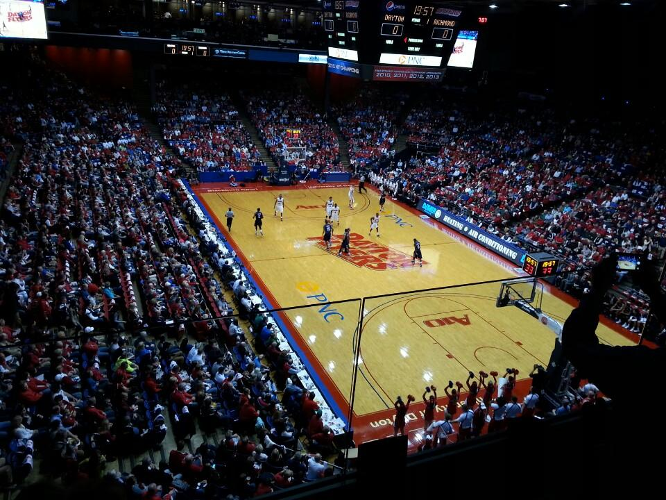 Seat View for University of Dayton Arena Section L8