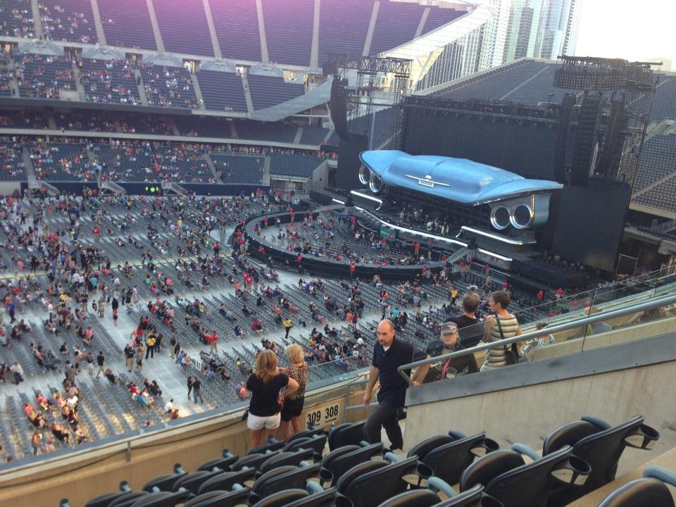 Concert Seat View for Soldier Field Section 309, Row 9