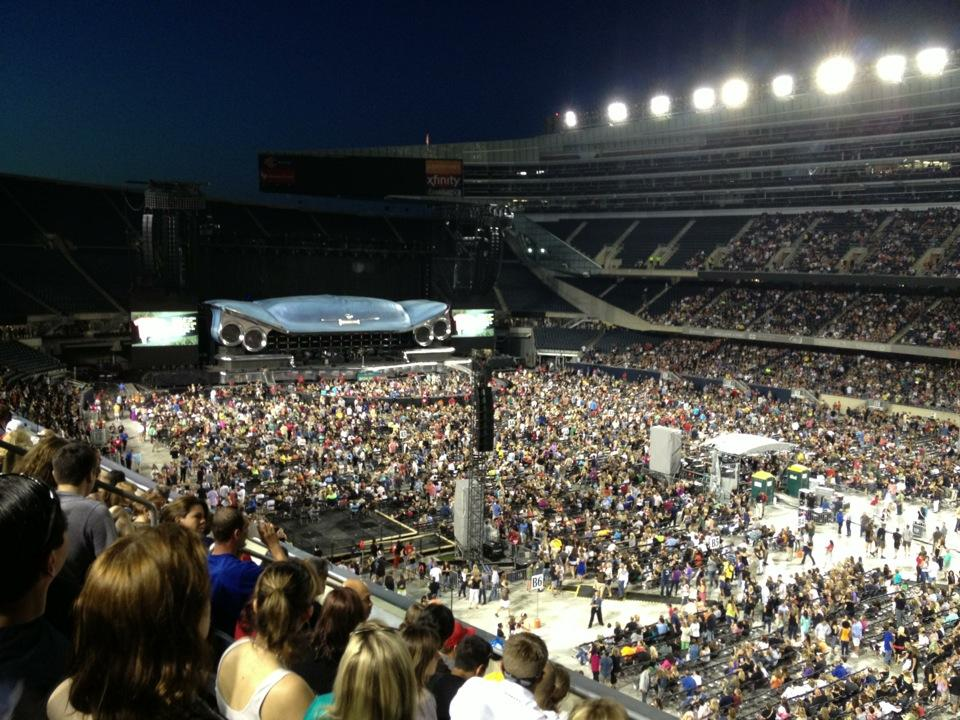 Concert Seat View for Soldier Field Section 230, Row 6