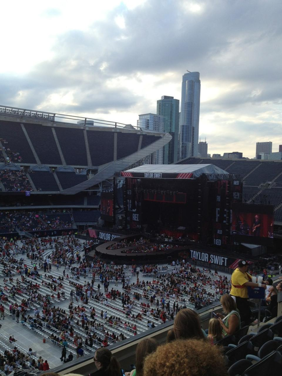 Concert Seat View for Soldier Field Section 310, Row 6
