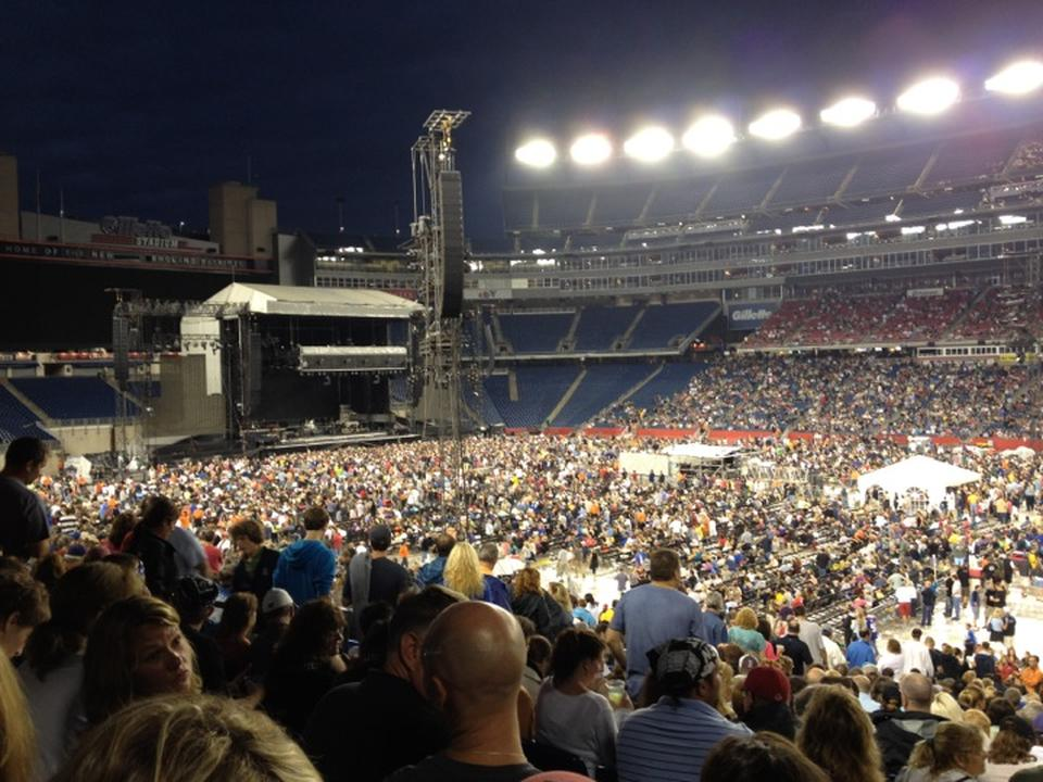 Concert Seat View for Gillette Stadium Section 105, Row 30