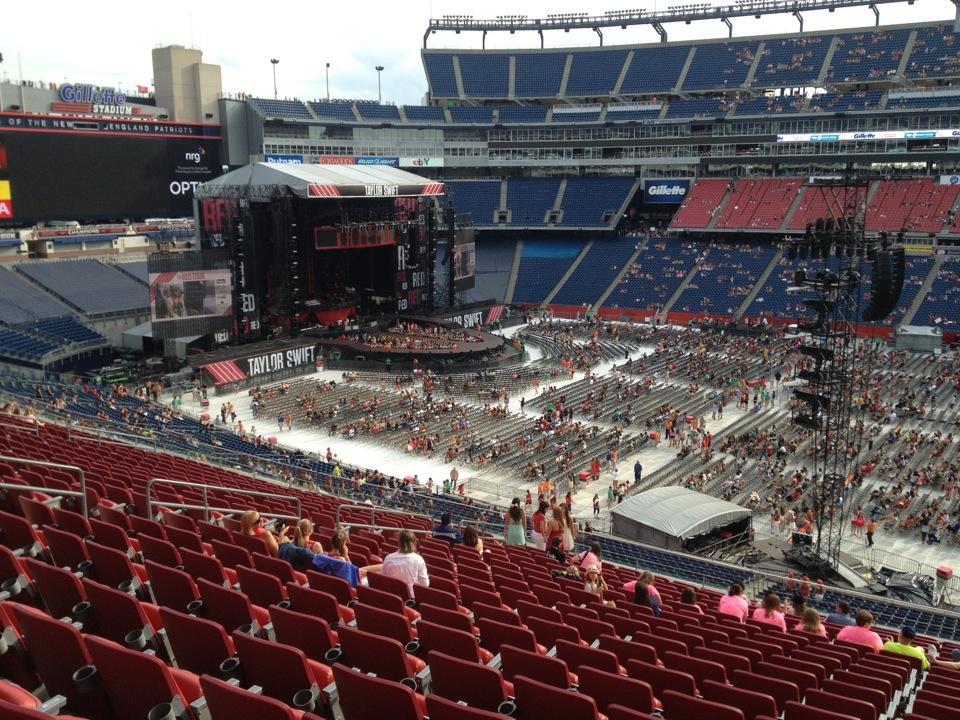 Gillette stadium section cl8 concert seating rateyourseats com