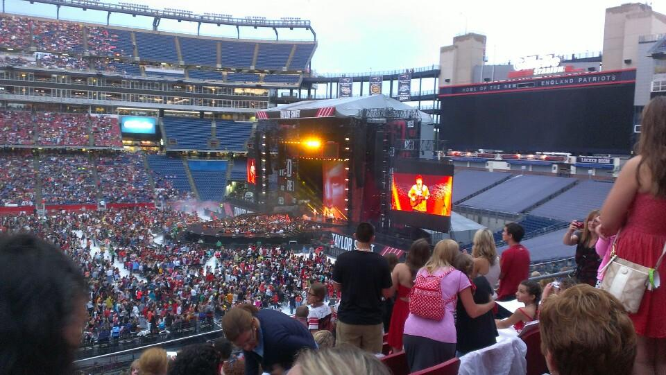 Gillette stadium section cl30 concert seating rateyourseats com
