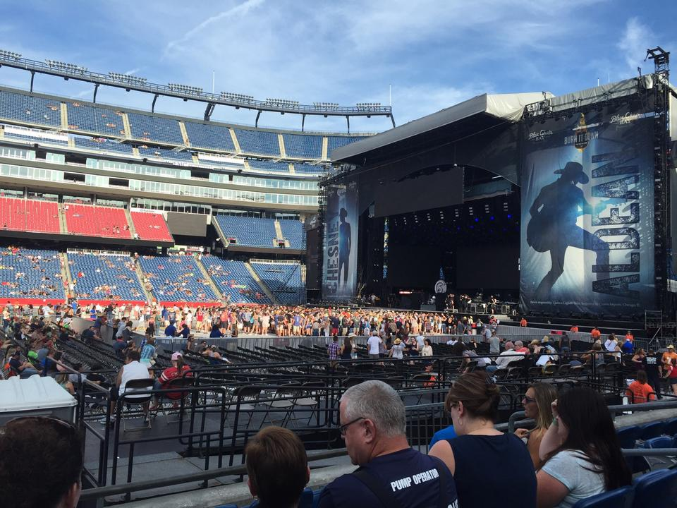 Gillette Stadium Section 130 Concert Seating