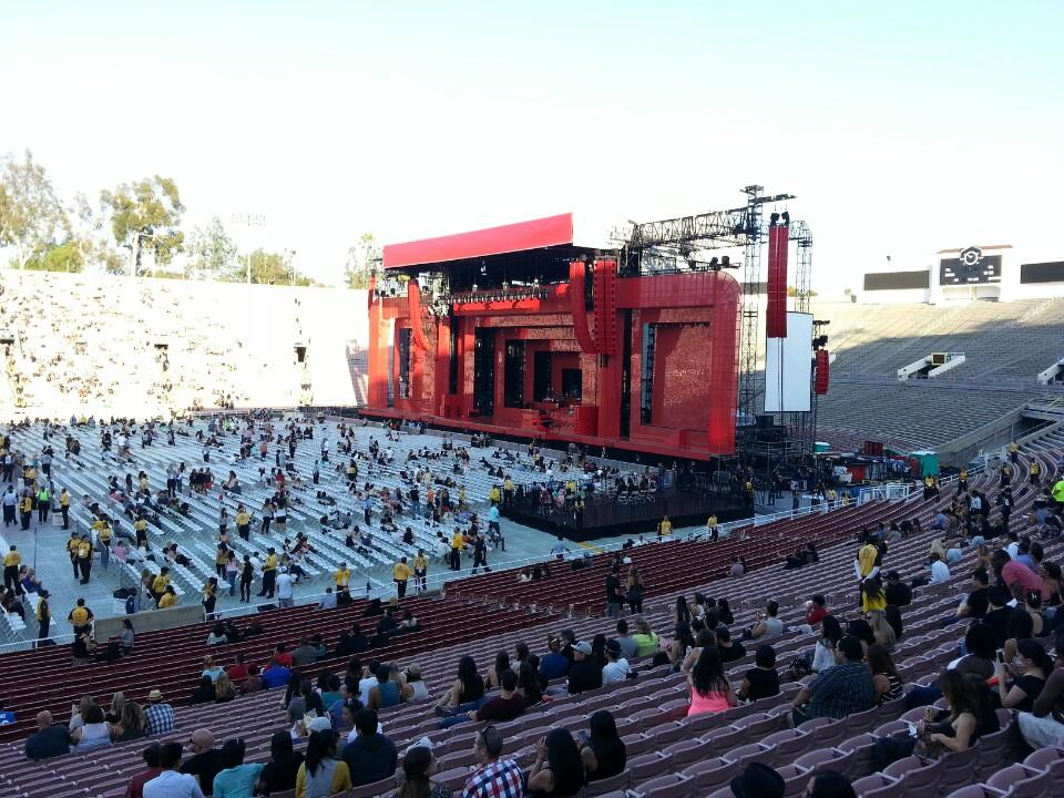 Concert Seat View For Rose Bowl Stadium Section 18