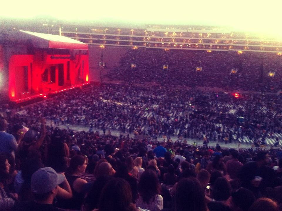 rose bowl stadium section 6 concert seating