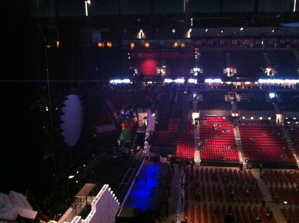 Concert Seat View for Moda Center Section 303, Row A