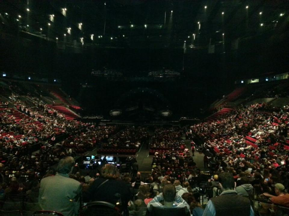 Concert Seat View for Moda Center Section 117, Row F