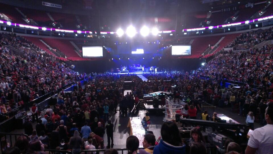 Concert Seat View For Moda Center Section 118 Row Gg