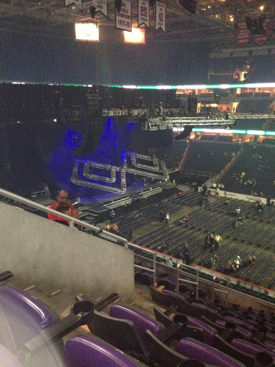 Concert Seat View for Capital One Arena Section 201, Row G