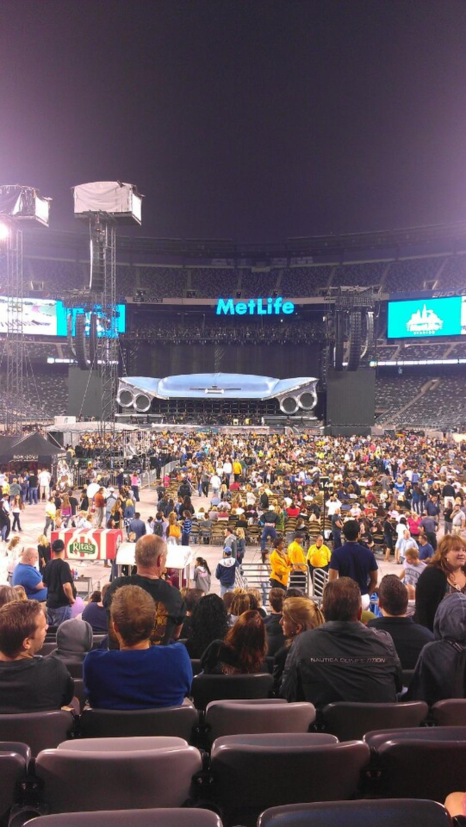 Concert Seat View for MetLife Stadium Section 124, Row 10