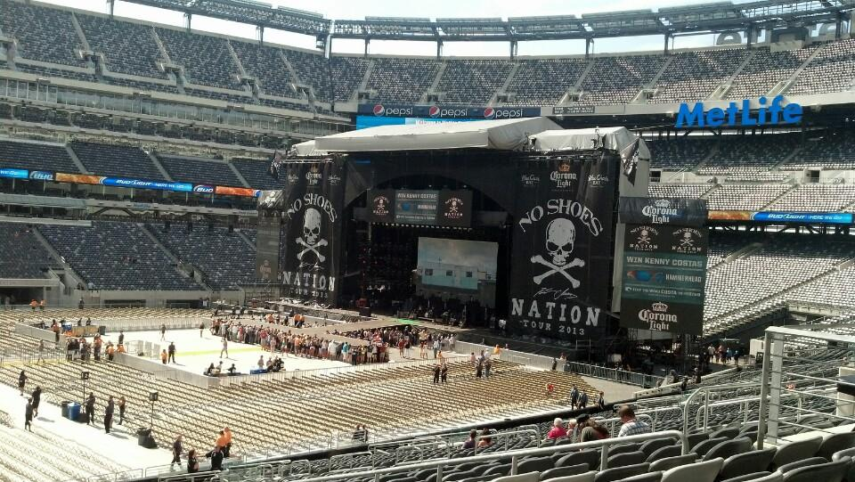 Concert Seat View For Metlife Stadium Section 115c