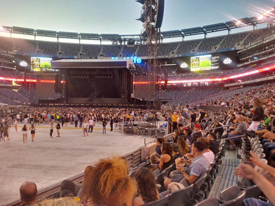 Concert Seat View For Metlife Stadium Section 118 Row 5