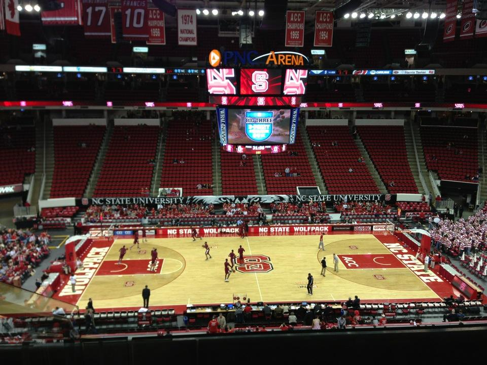 NC State Wolfpack Seat View for PNC Arena Section 221