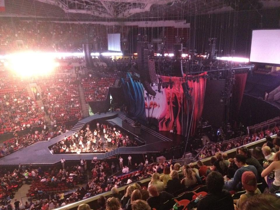 Concert Seat View for KeyArena Section 214, Row 11