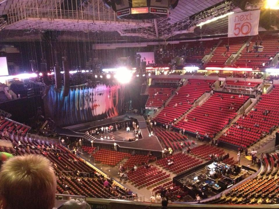 Concert Seat View for KeyArena Section 203