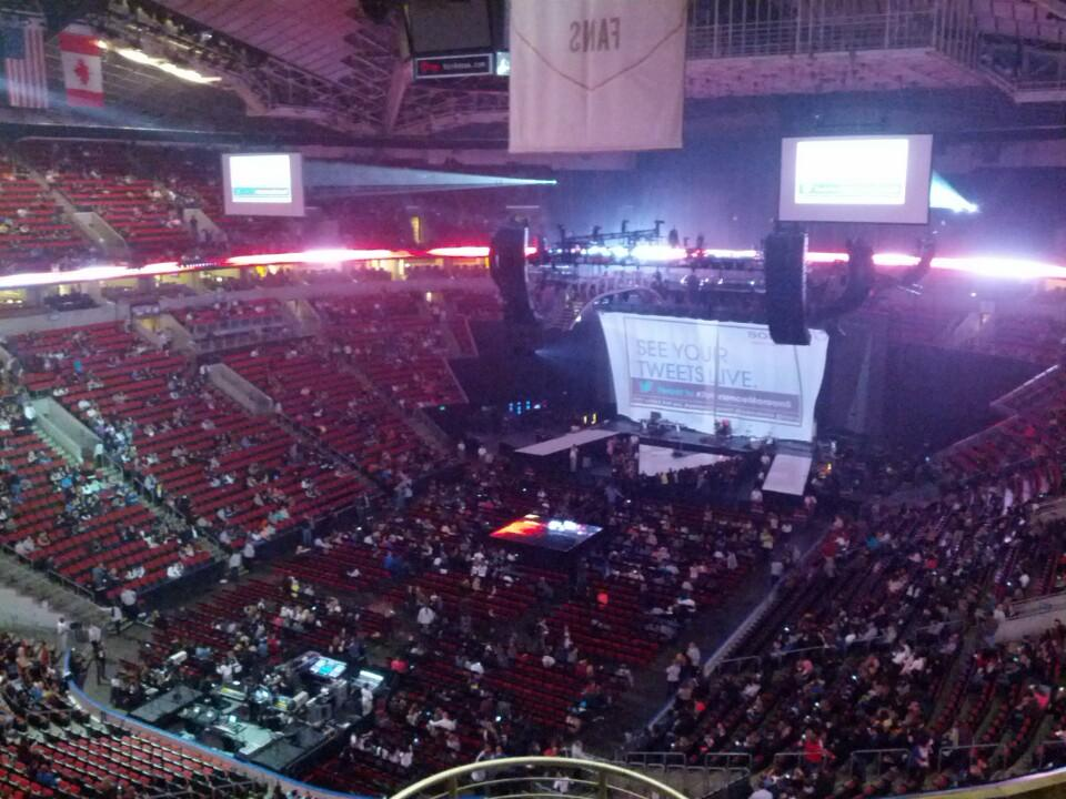 Concert Seat View for KeyArena Section 210