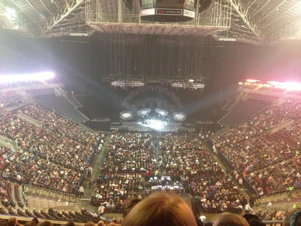 Concert Seat View for KeyArena Section 207