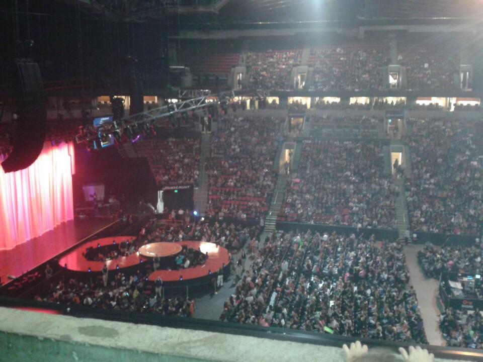 Concert Seat View for KeyArena Section 228, Row 1