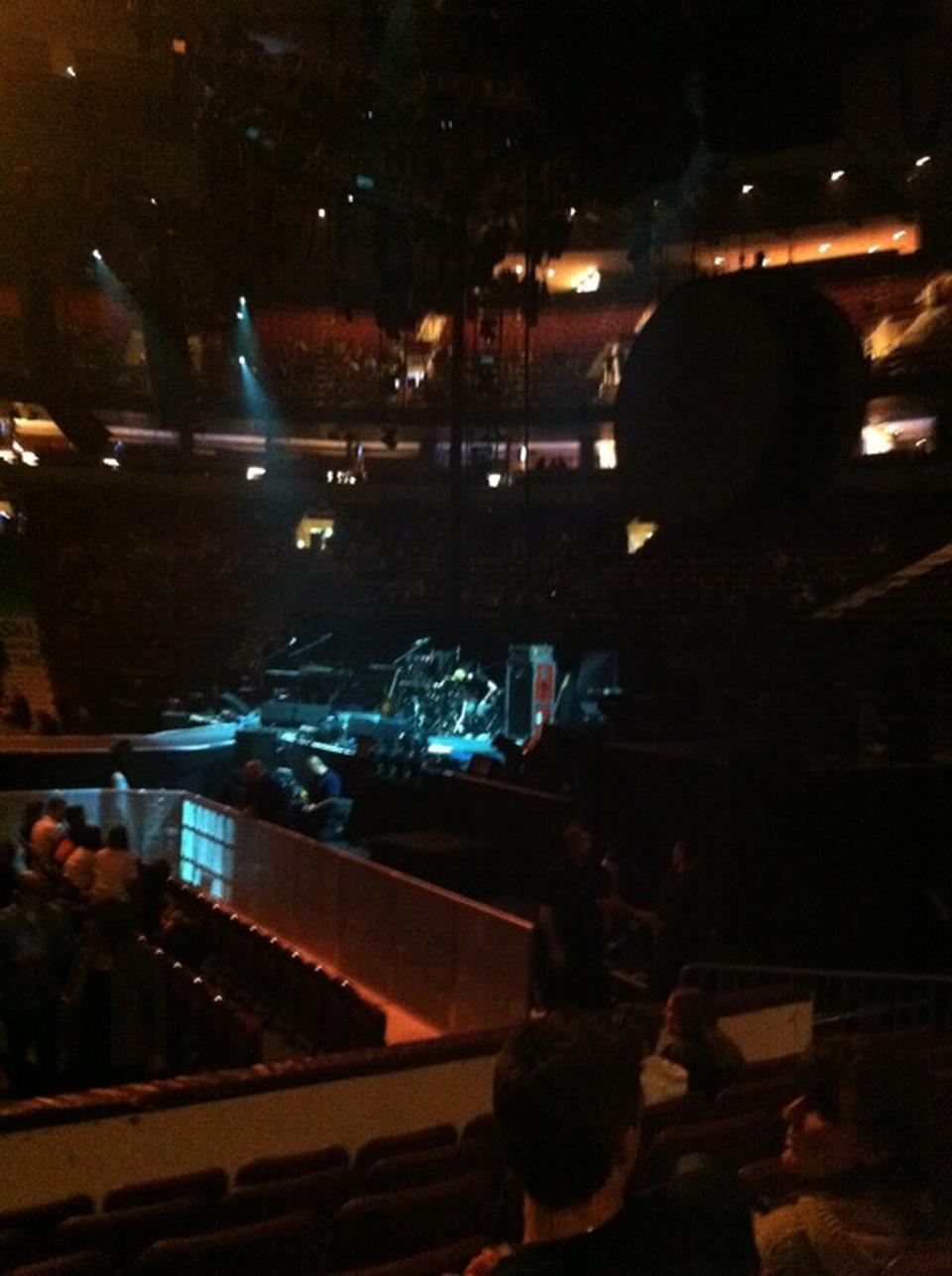 Concert Seat View for Rogers Arena Section 105, Row 7
