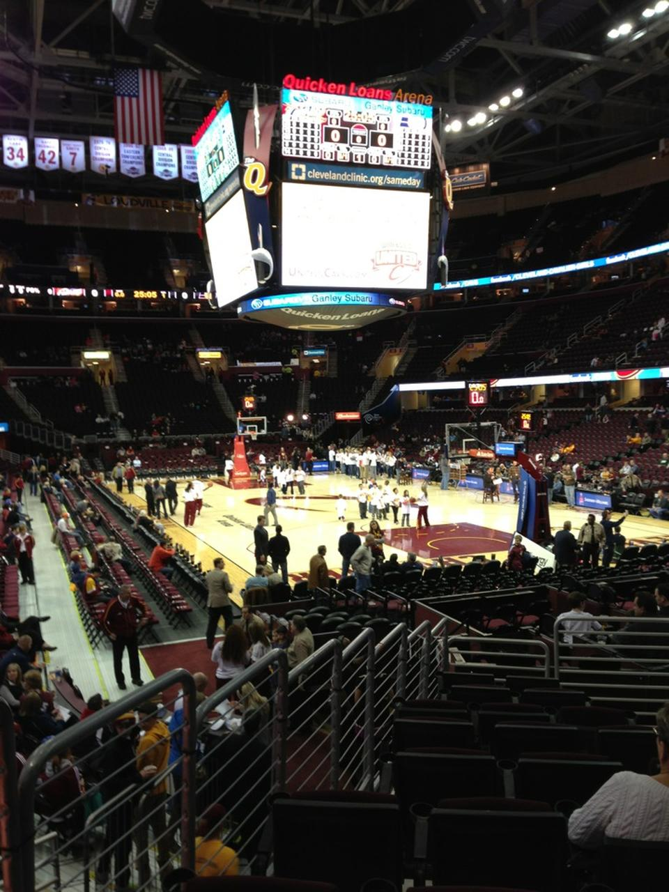 Seat View For Quicken Loans Arena Section