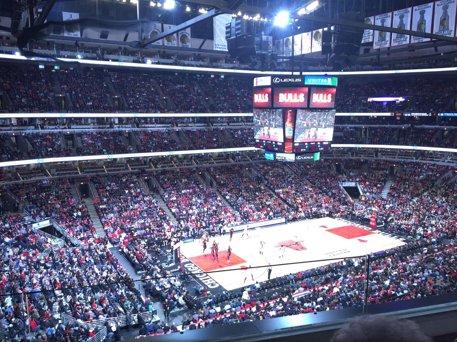Chicago Bulls Seat View for United Center Section 321, Row 2, Seat 3