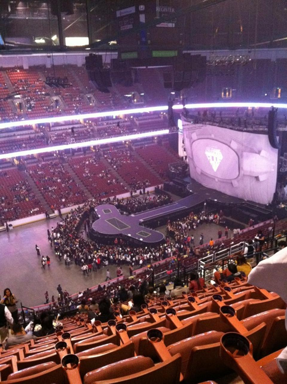 Attractive Concert Seat View For Honda Center Section 437 ...