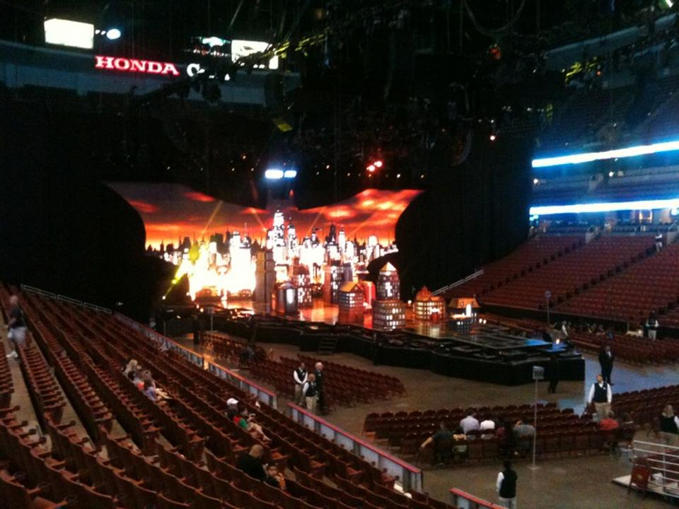 Concert Seat View for Honda Center Section 204