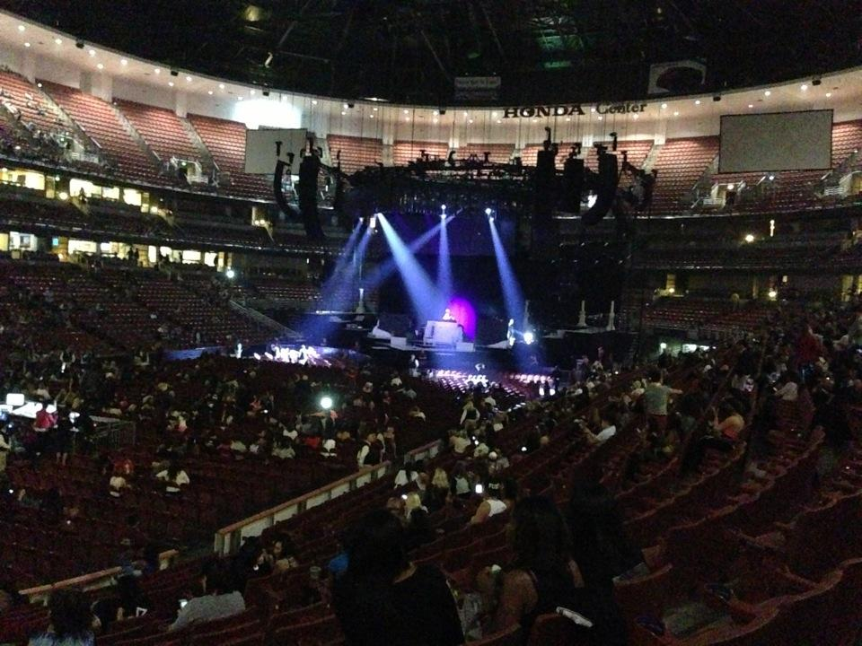 Concert Seat View For Honda Center Section 226 ...