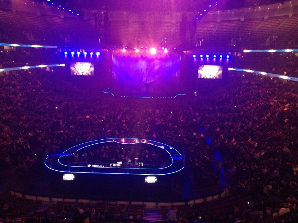 Concert Seat View for Honda Center Section 326