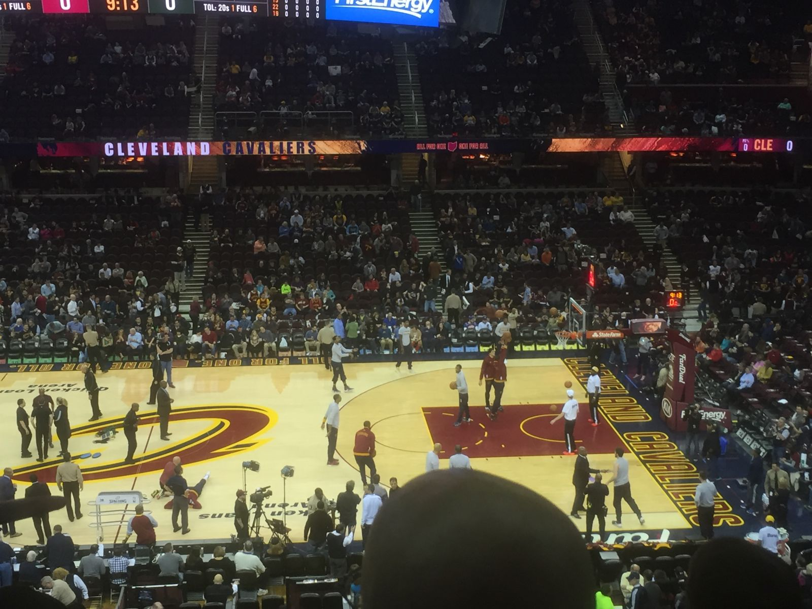 Seat View for Quicken Loans Arena Club 126 Row 27