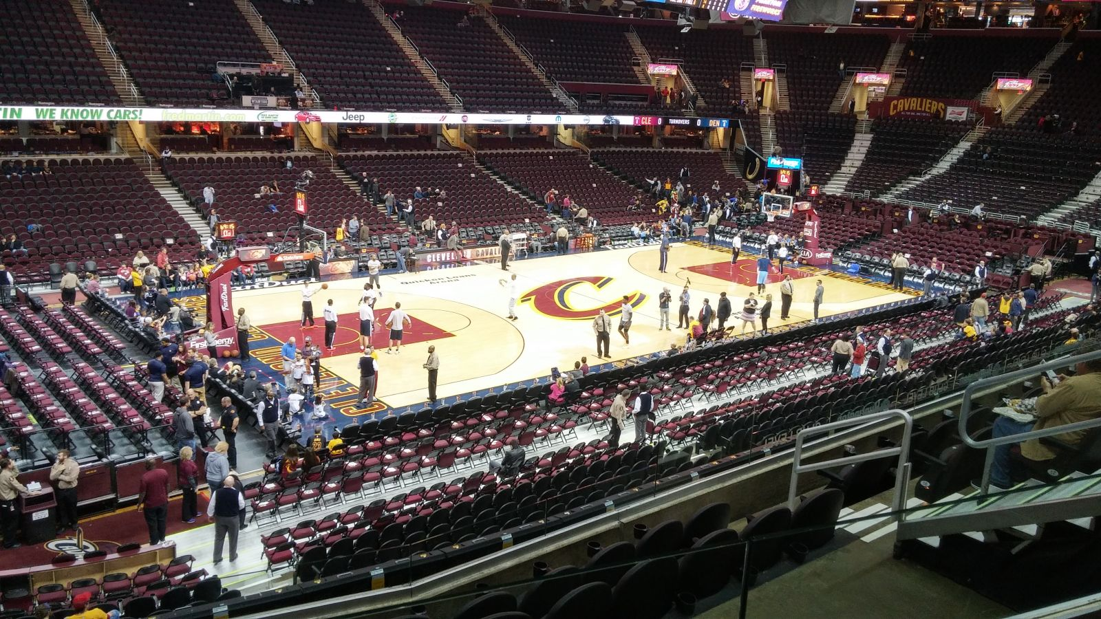 seat view for quicken loans arena section  row  . quicken loans arena section   cleveland cavaliers