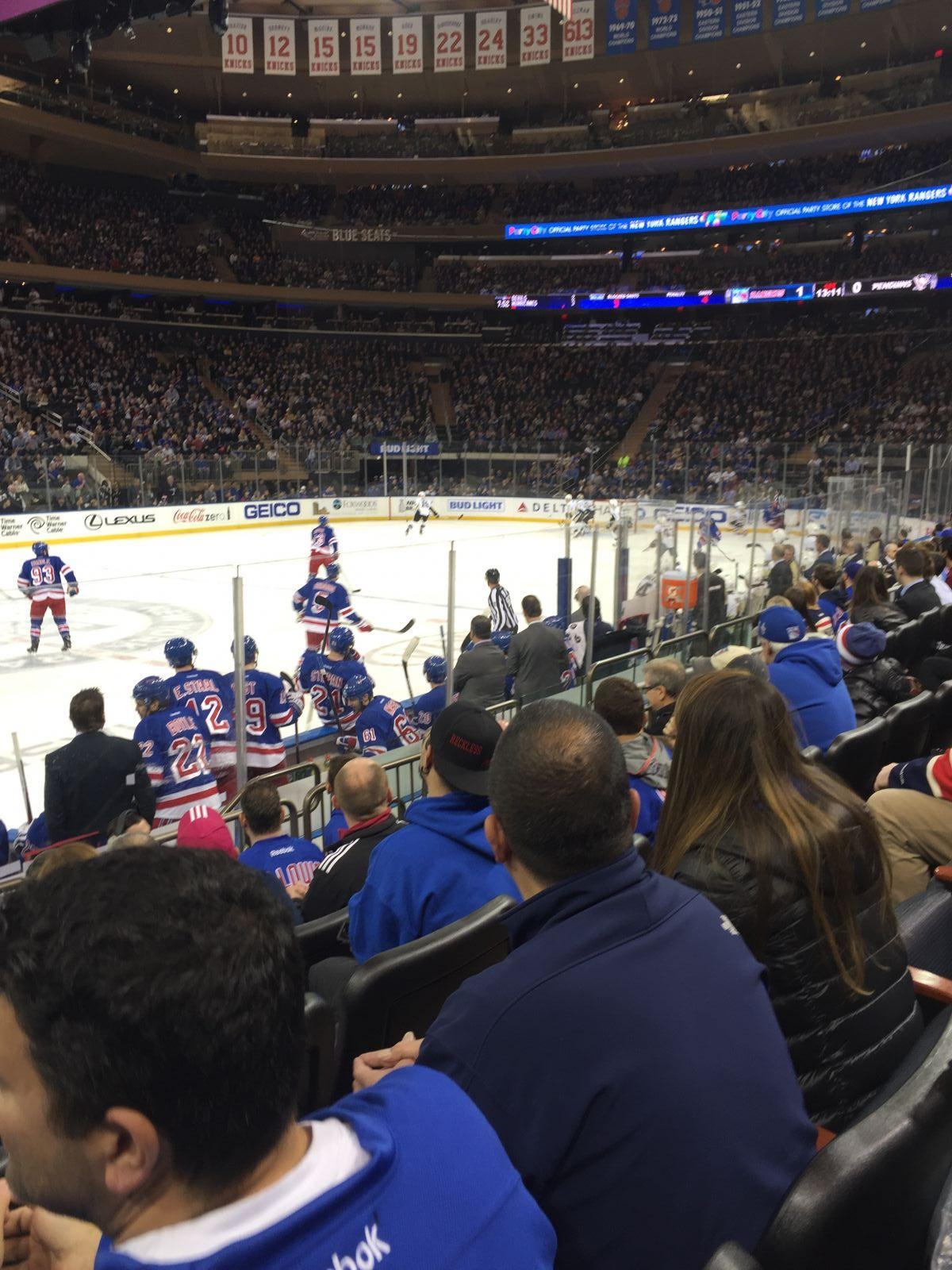New York Rangers Seat View for Madison Square Garden Section 106, Row 5, Seat 11