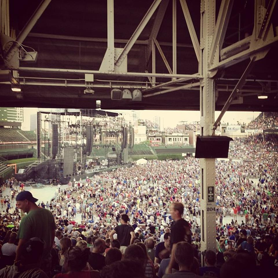 Concert Seat View for Wrigley Field Section 204