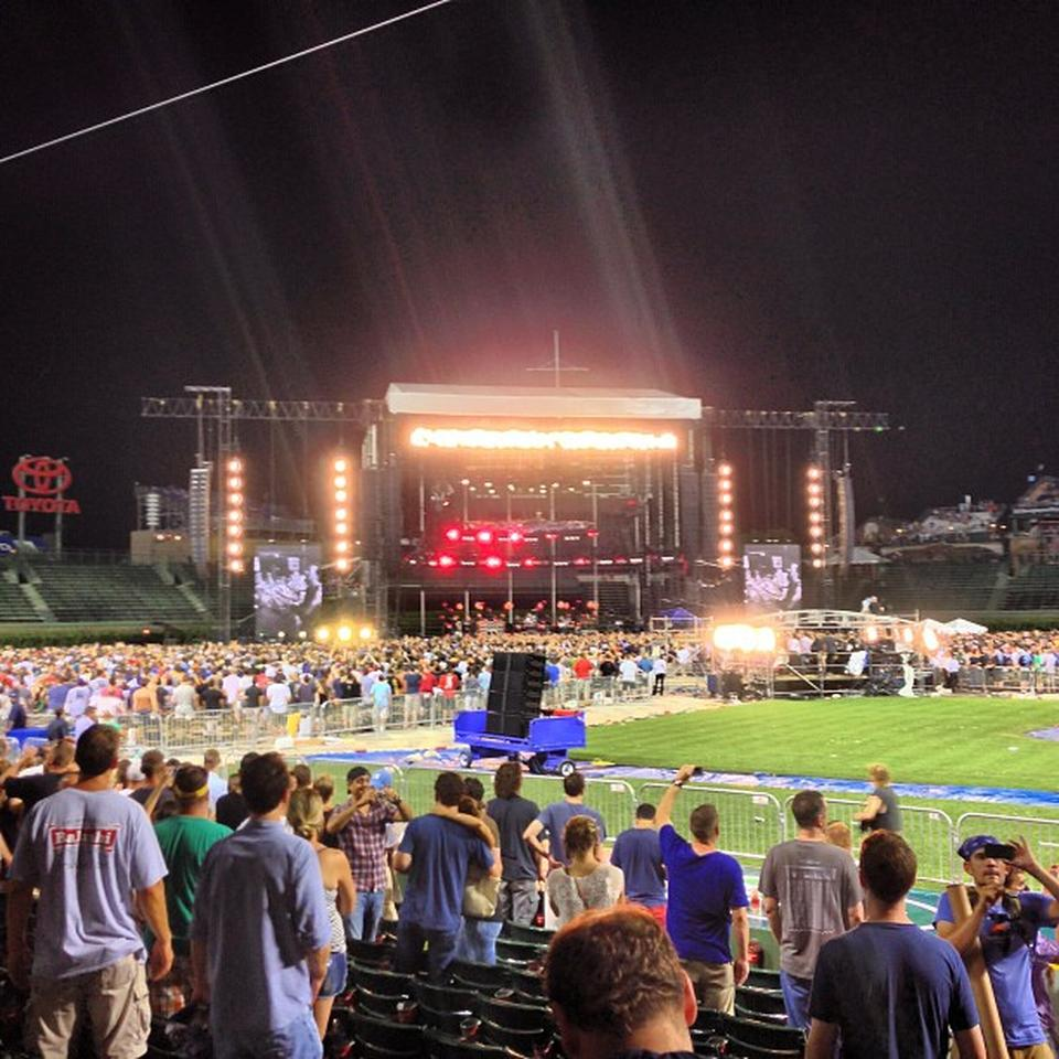 Concert Seat View for Wrigley Field Section 13