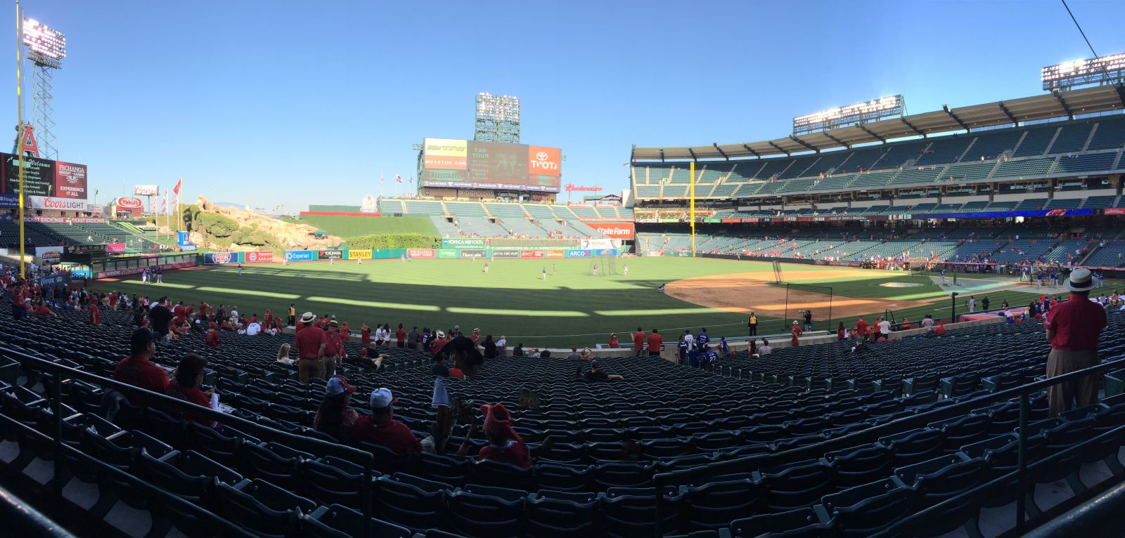 Seat View for Angel Stadium Section 208, Row A, Seat 16
