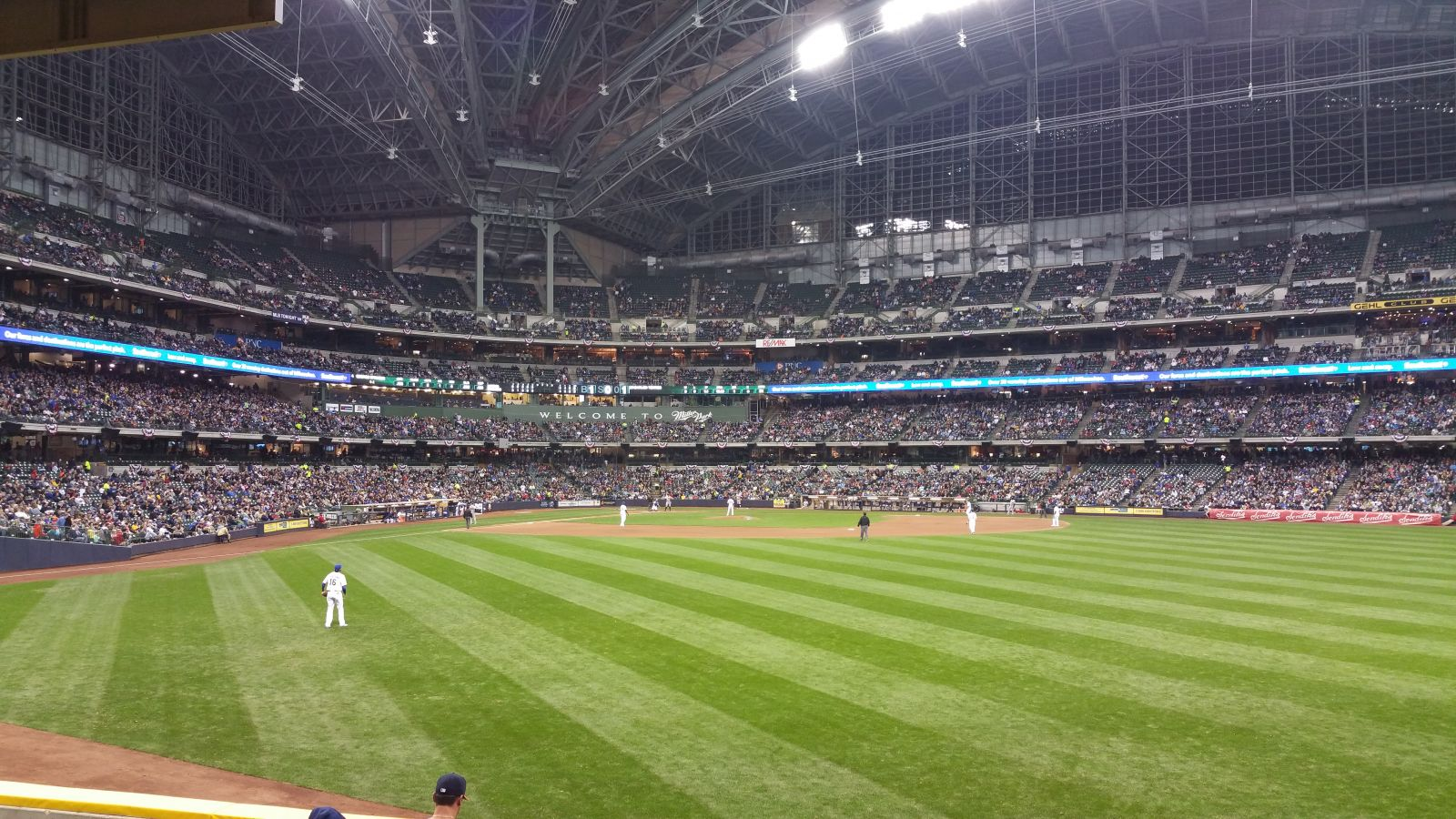 Seat View for Miller Park Section 101, Row 1, Seat 12