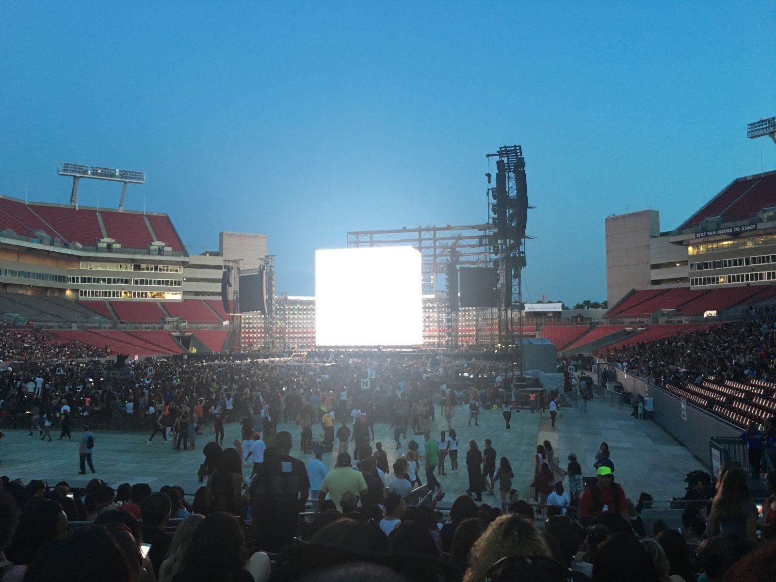 Concert Seat View for Raymond James Stadium Section 151, Row R, Seat 5