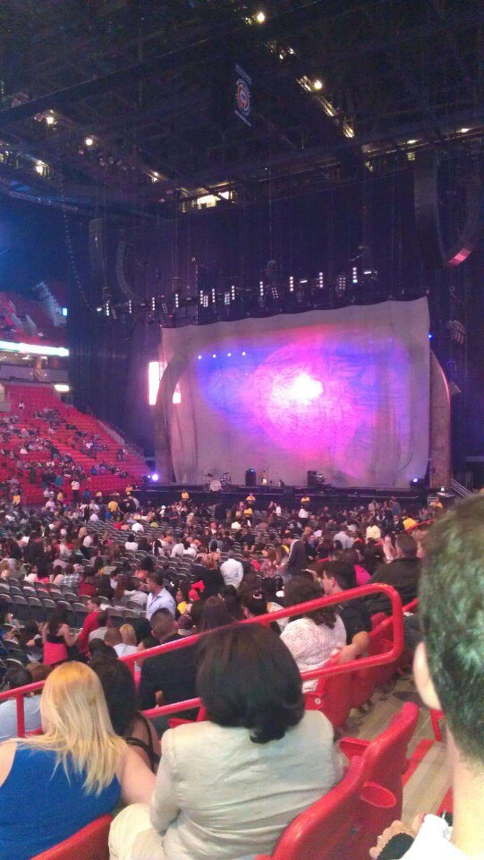 Concert Seat View for AmericanAirlines Arena Section 108, Row 9