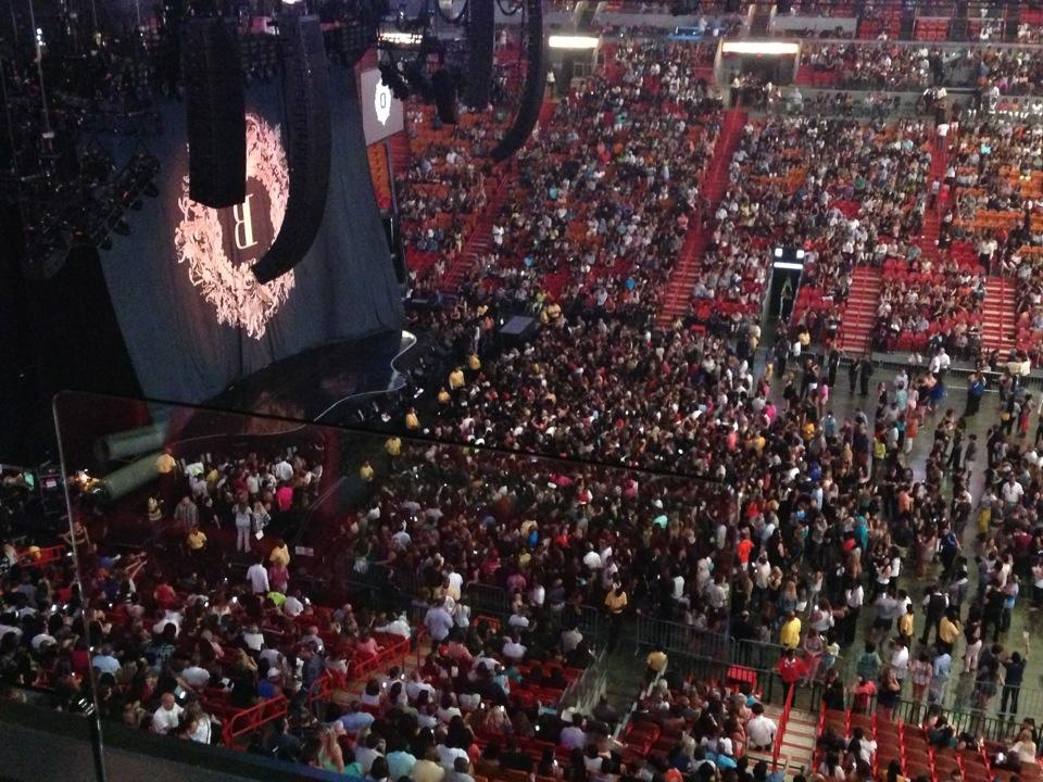 Concert Seat View for AmericanAirlines Arena Section 324