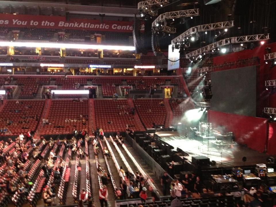 Concert Seat View for BB&T Center Section 134, Row 17